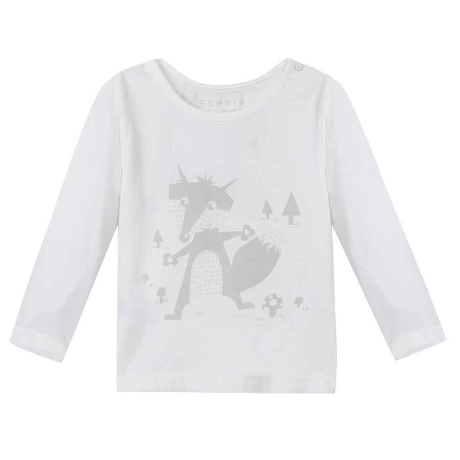 ESPRIT Newborn Chemise longue style enlevée white