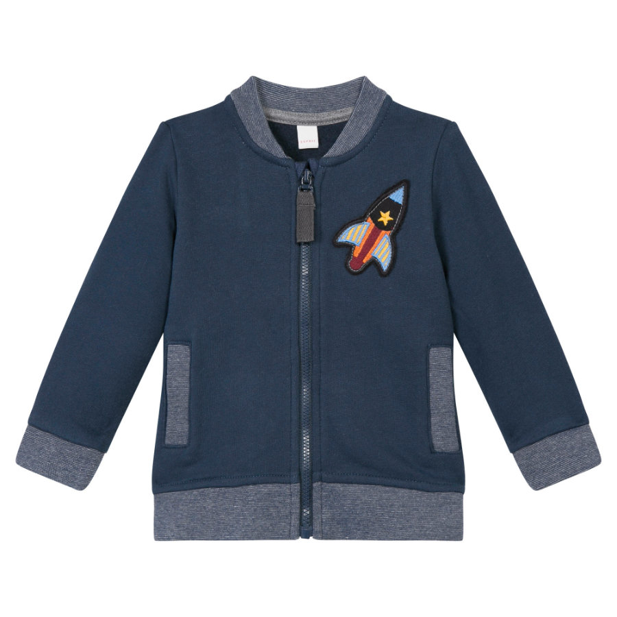 ESPRIT Boys Sweat Jacket Raket Raket blauw