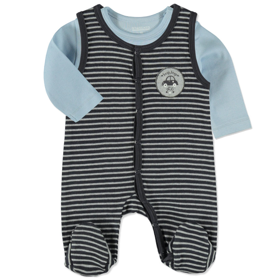 STACCATO Boys Stramplerset grey blue Streifen