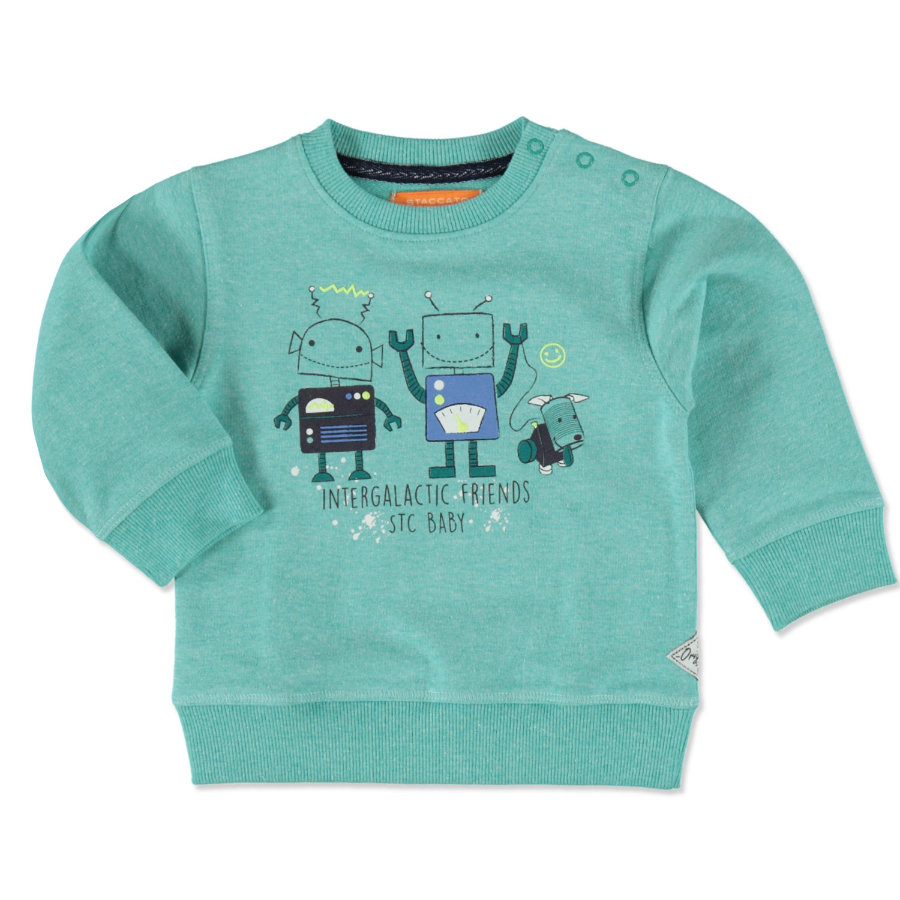 STACCATO Boys Sweatshirt dark blue melange Roboter