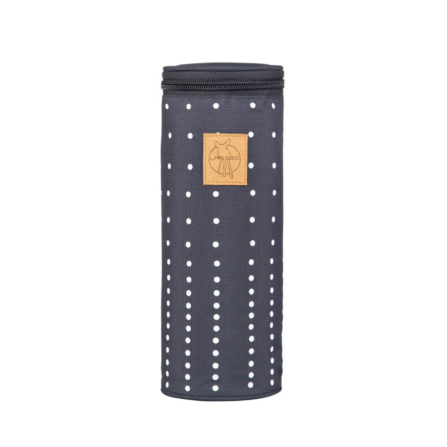 LÄSSIG Casual Bottle Holder Single, Dotted lines ebony
