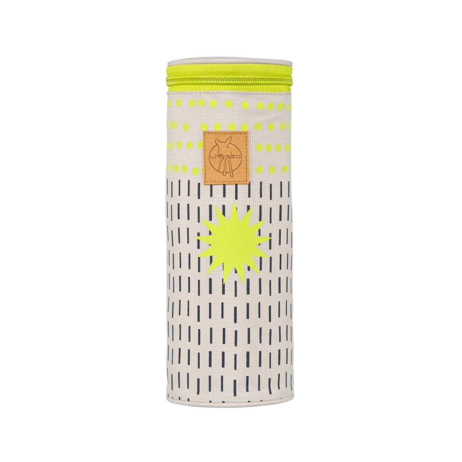 Lässig Casual Bottle Holder Single Dots und Strokes lime