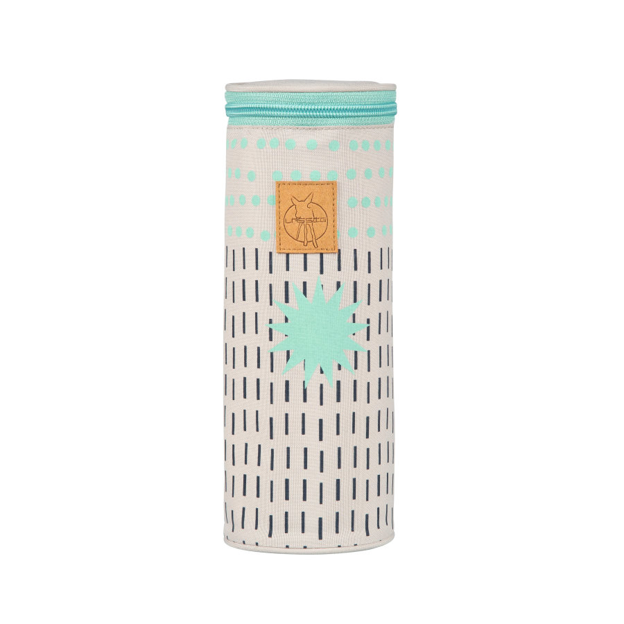 Lässig Casual Bottle Holder Single Dots und Strokes aqua