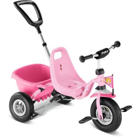 PUKY® Trehjulsykkel med tippeplan CAT 1L lufthjul rosa Prinsessen Lillifee 2379