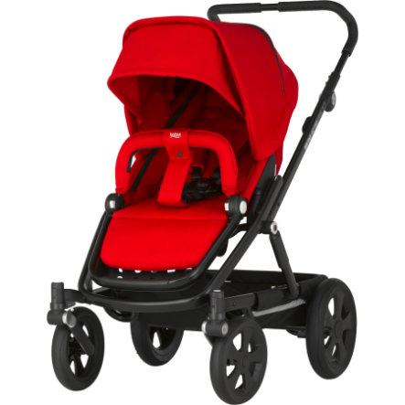 Britax Kinderwagen Go Big Flame Red Gestellfarbe Black