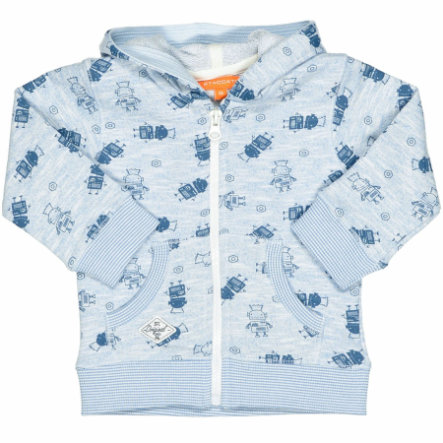 STACCATO Boys Sweatjacke light blue melange Roboter