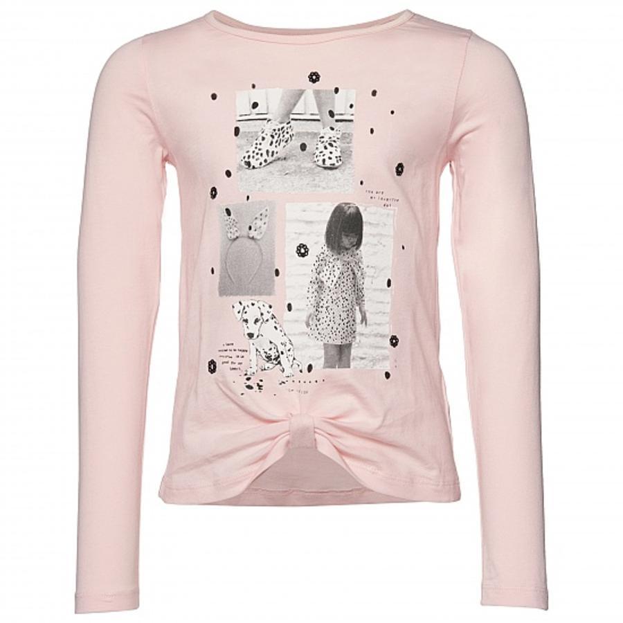 TOM TAILOR Girls Langarmshirt mit Knoten Pastell Pink