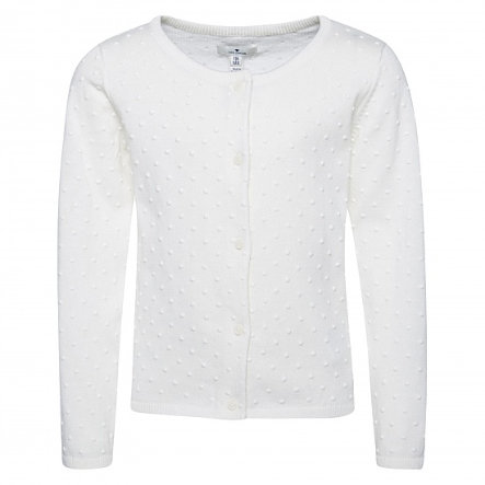 TOM TAILOR Girls Strickjacke soft clear white