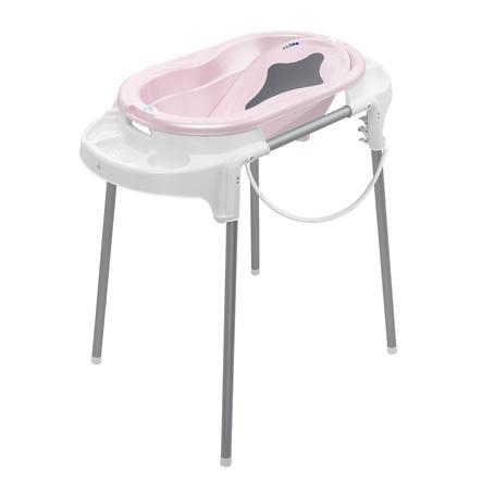 Rotho Babydesign Set Bain Baignoire Bébé Sur Pieds Top Rose Pâle