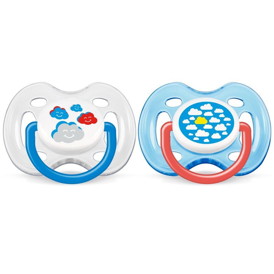 AVENT/PHILIPS Sucettes orthodontiques Classic 0-6 mois SCF172/18 sans BPA