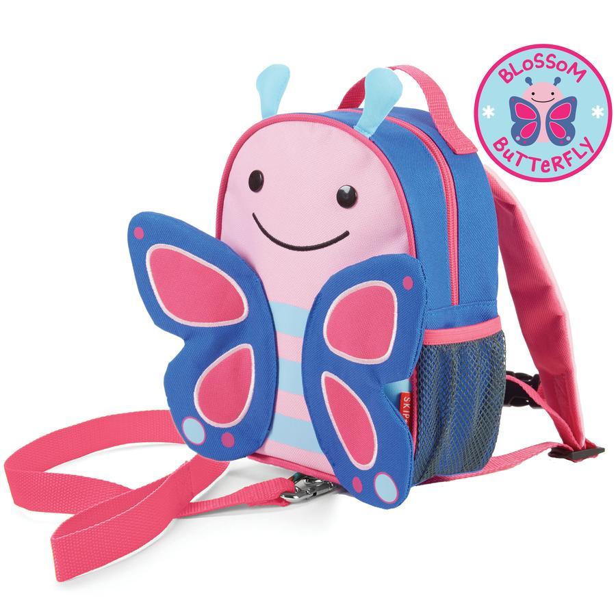 Plecak SKIP HOP ZOO z linią bezpieczeństwa, motylkowy Blossom