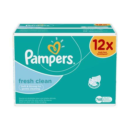 Pampers Feuchttücher Fresh Clean Vorteilspack Giga 12 x 64 Stück