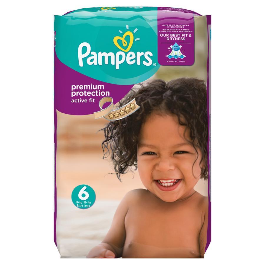 PAMPERS Pannolini Active Fit Extra Large Misura 6 (15+ kg) Confezione mensile risparmio da 120 pezzi
