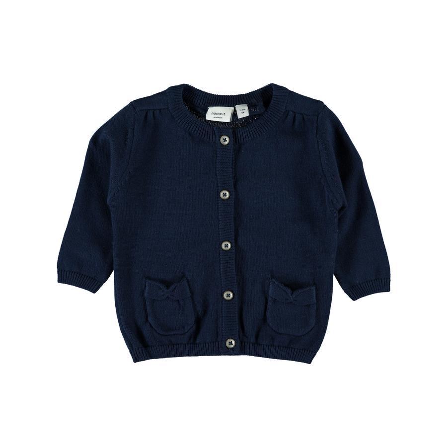 name it Girls Strickjacke Dana dress blues
