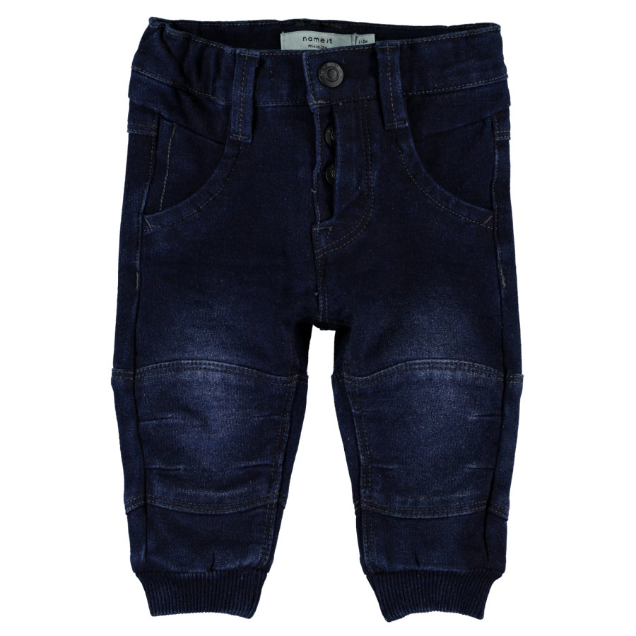name it Boys Jeans Anton dark blue denim