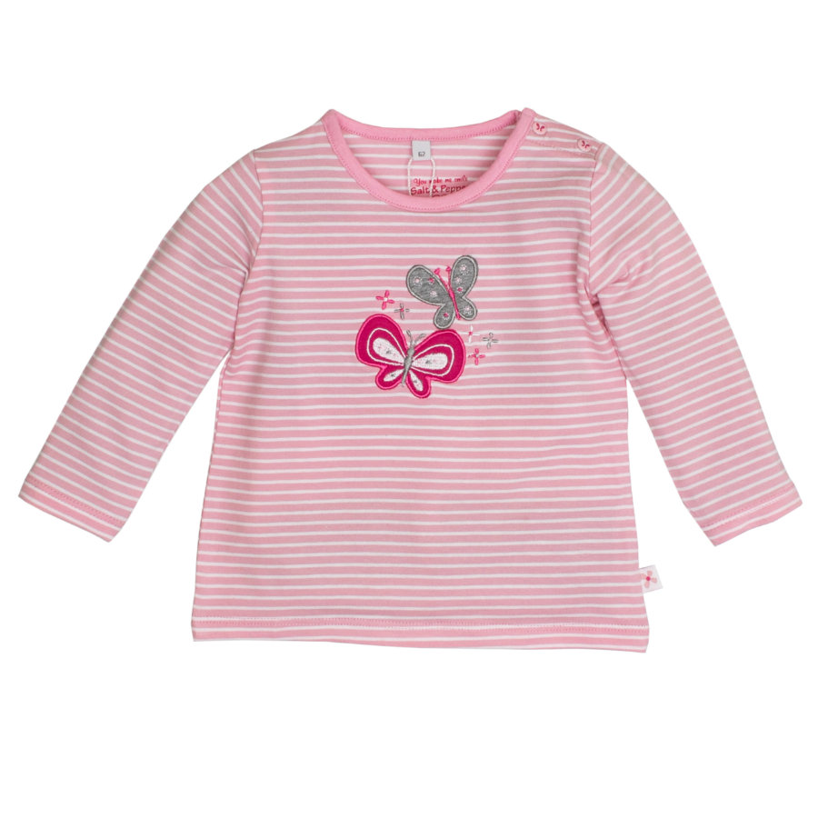 SALT AND PEPPER Girls Longsleeve Schmetterling grey melange