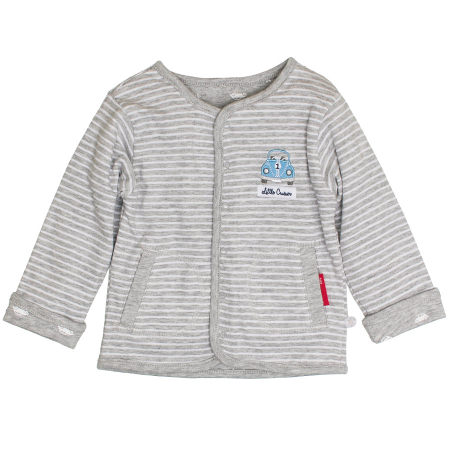 SALT AND PEPPER Boys Wendejacke Autos grey melange