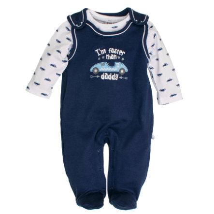 SALT AND PEPPER Boys Stramplerset Rennauto dutch blue