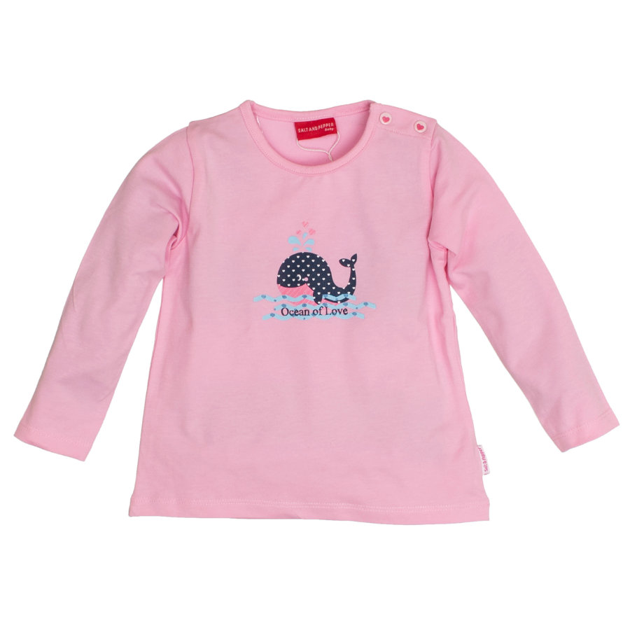 SALT AND PEPPER Girls Longsleeve Walfisch rosé