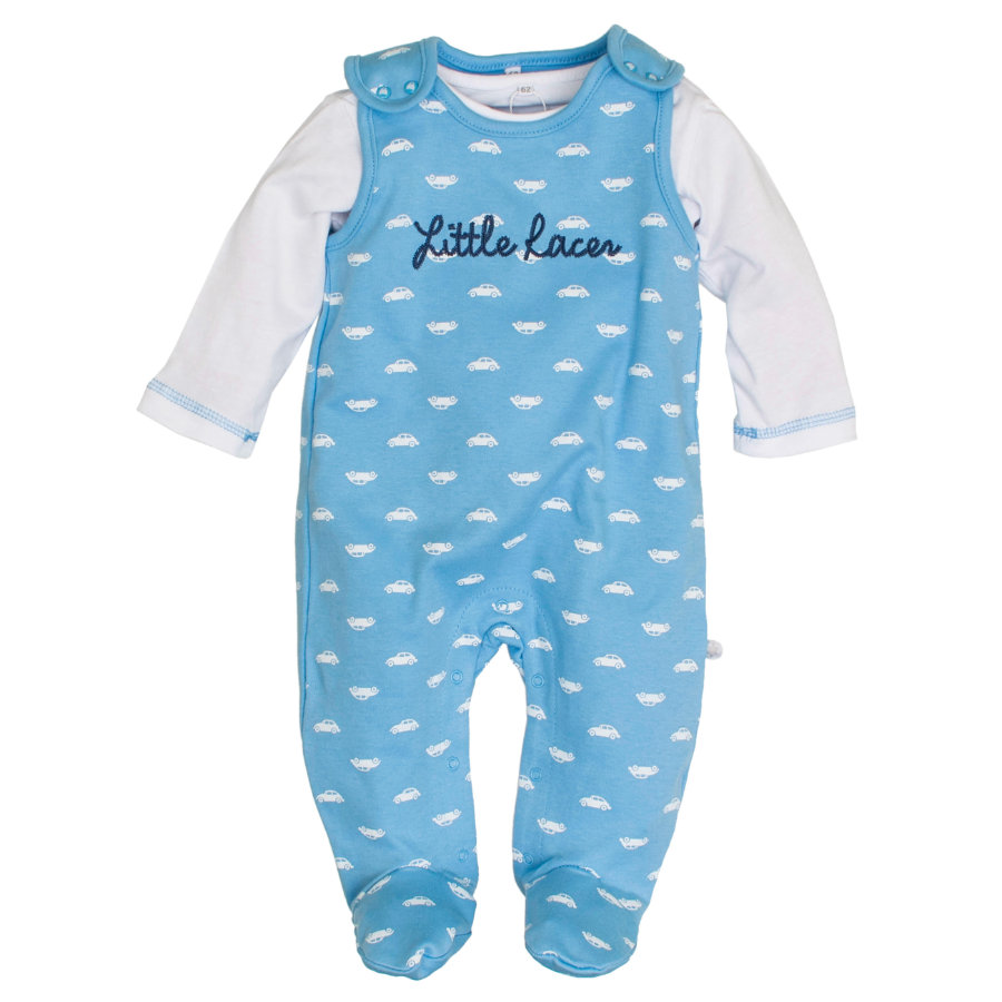SALT AND PEPPER Boys Stramplerset little racer sky blue