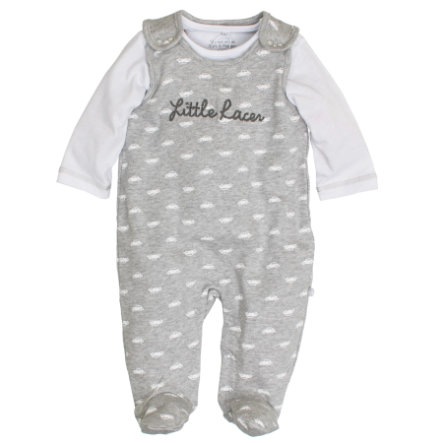 SALT AND PEPPER Boys Stramplerset little racer grey melange