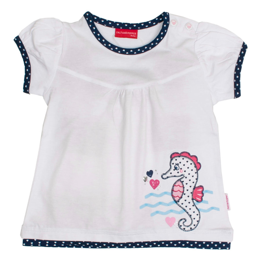 SALT AND PEPPER Girls T-Shirt Seepferdchen white