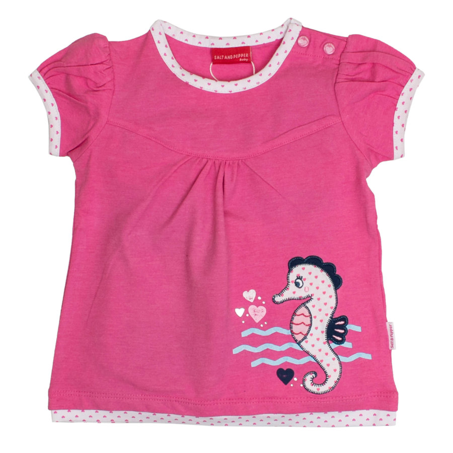 SALT AND PEPPER Girl s T-Shirt seahorse candy pink s seahorse
