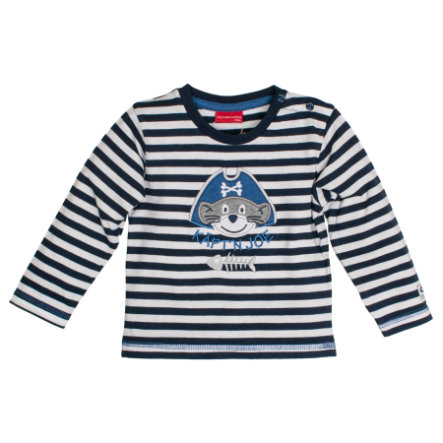 SALT AND PEPPER Boys Longsleeve Ringel blue melange