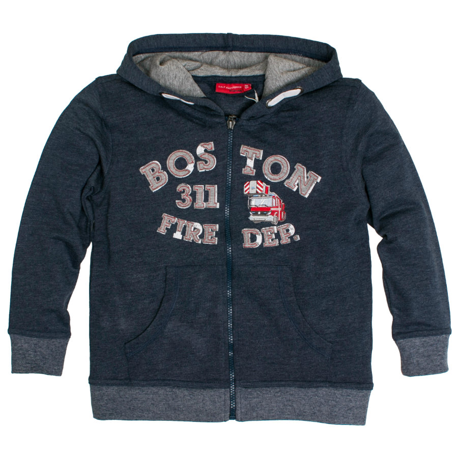SALT AND PEPPER Boys Sweatjacke Boston denim blue