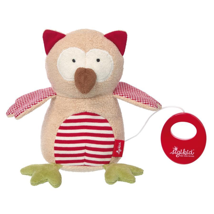 SIGIKID Organic Collection - Hrající hračka, sova