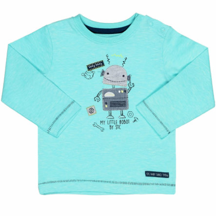 STACCATO Boys Shirt light mint melange Roboter