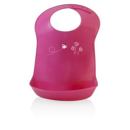 miniland Babylatz pink mit Auffangtasche