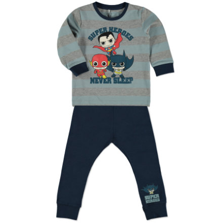 name it Boys Ensemble Superhero robe bleu bleuté