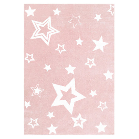 LIVONE Tapis enfant Love Rugs Starlight rose/blanc