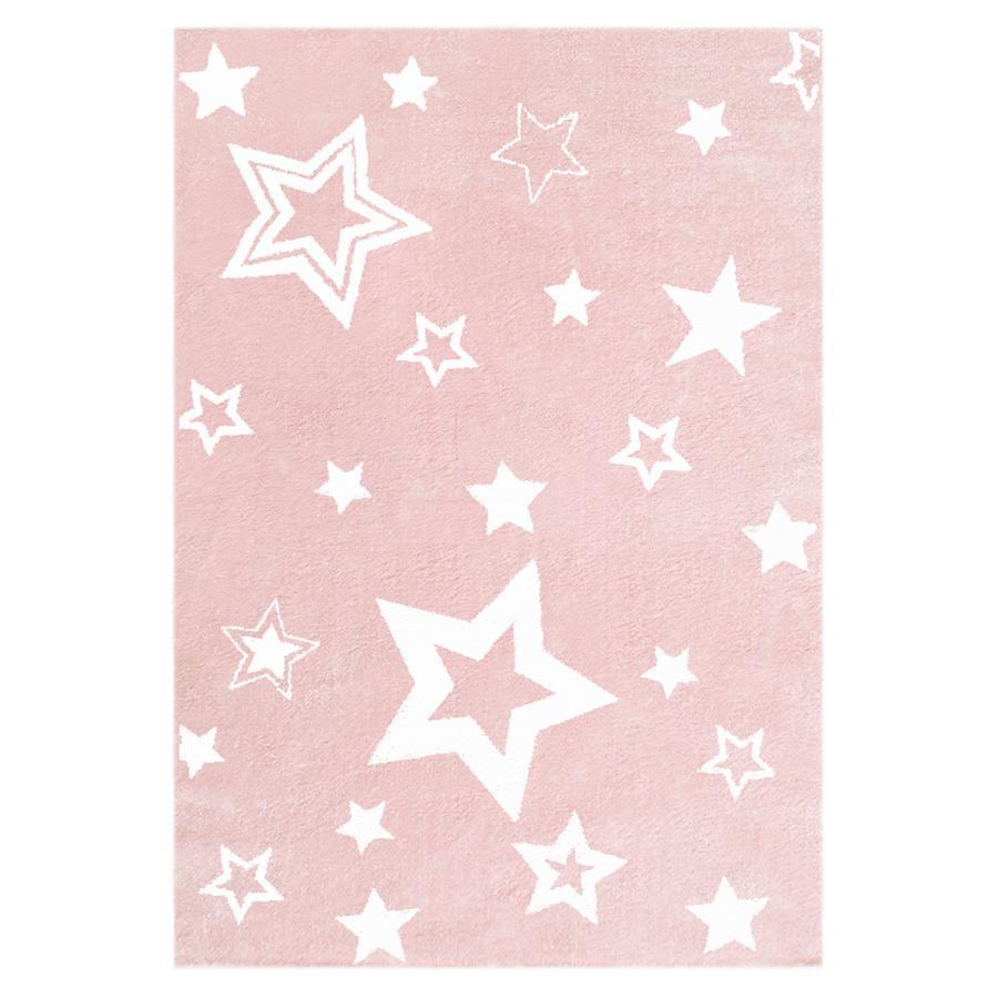 LIVONE Spiel- und Kinderteppich Love Rugs Starlight rosa/weiss 160 x 230 cm