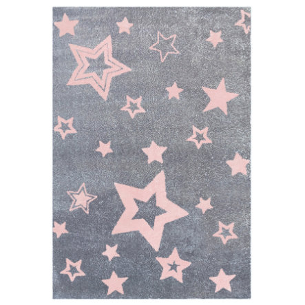 LIVONE Tapis enfant Love Rugs Starlight gris/rose