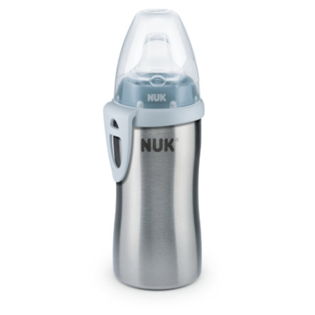 NUK Active Cup z ušlechtilé oceli modrý 12 m+