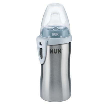 NUK Trinkflasche Active Cup blau aus Edelstahl ab 12. Monate