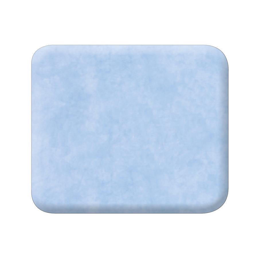 JULIUS ZÖLLNER Wickelauflage flach Folie uni blau 75 x 85 x 2 cm
