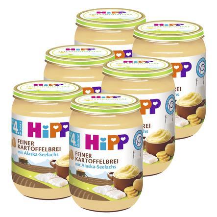 HiPP Feiner Kartoffelbrei mit Alaska-Seelachs 6 x 190 g