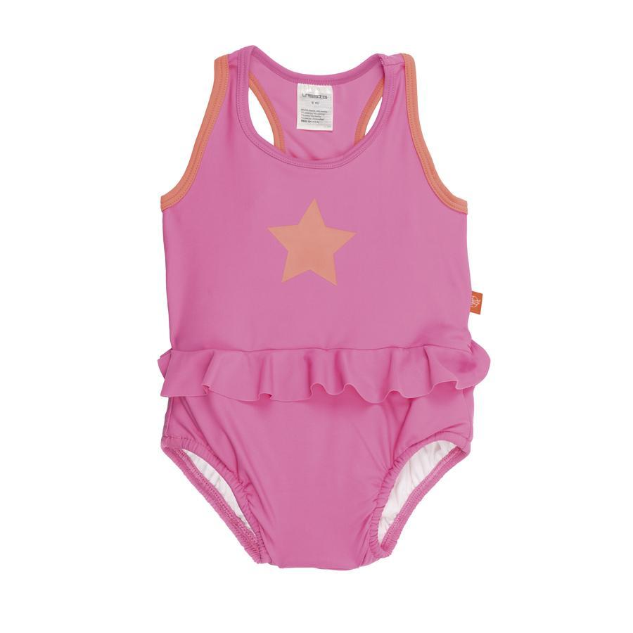 LÄSSIG Girls Splash & Fun Plavky v celku pink
