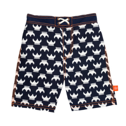 LÄSSIG Boys Splash & Fun Badehose blue-white