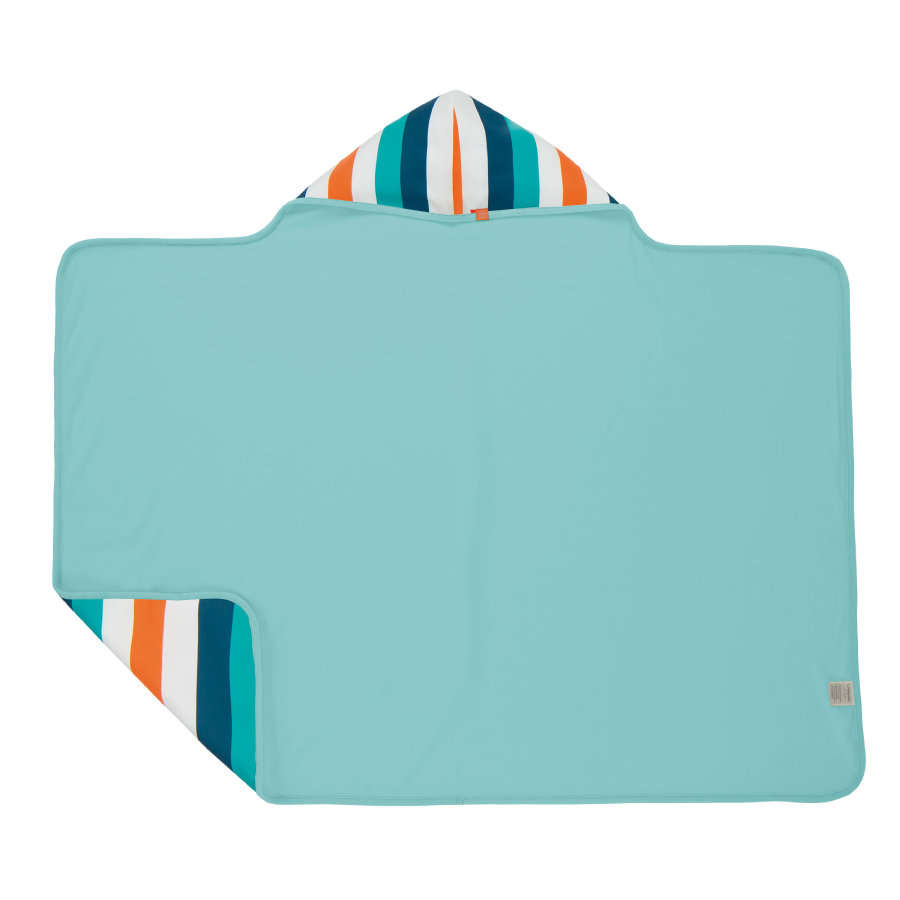 LÄSSIG Boys Splash & Fun Capuchon handdoek blue