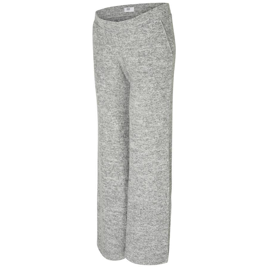 mama licious těhotenské kalhoty mllounge light grey melange