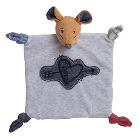 KALOO Doudou Souris Coeur tendre Blue Denim, 20 cm