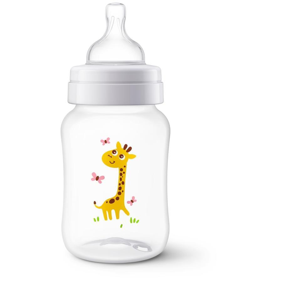 Philips Avent Flasche Klassik+ SCF574/12 260 ml  1M+ Giraffe