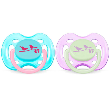 AVENT/PHILIPS Silicone Classic Soother / Pacifier 0-6m SCF 172/18 BPA Free - Girls