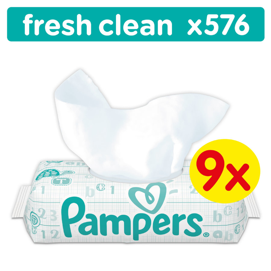 Pampers Lingettes Babyfresh Clean pack éco Mega 9 x 64 pièces