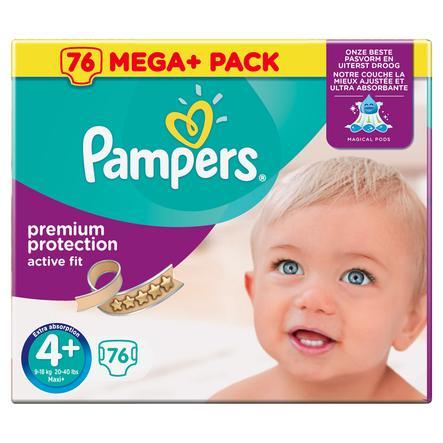 Pampers Active Fit maat 4+ Maxi Plus (9-20 kg) Mega Plus Pack 76 Stuks