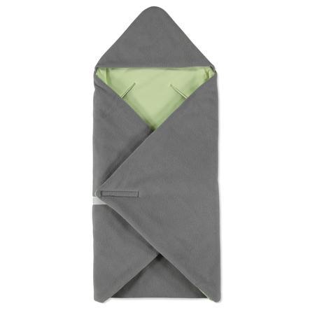 HOBEA Couverture bébé enveloppante hiver gris/vert